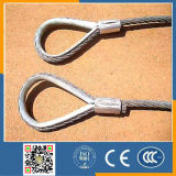 Plastic Coatedwire Rope Sling Galvinized with Thimble