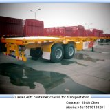 ISO CCC Approved 2 Axles 40ft Container Chassis Trailer