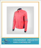 Windproof Lady Sport Light Jacket with Contrast Collar