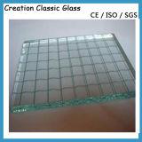 6mm 6.5mm Dark Grey Nashiji Patterned Glass Wired Glass
