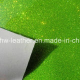 Synthetic Glitter PU Leather for Ladies and Children′s Shoes Hw-844