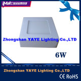 Yaye Hot Sell Surface Mounted 6W Square LED Panel Light with 2/3 Years Warranty