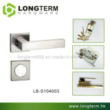 Stainless Steel Door Lever Mortise Lock on Square Rose (LB-S104003)