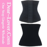 Wholesale Steel Bones Black Jacquard Waist Training Corset