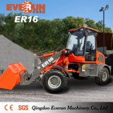 Everun Brand 1.6 Ton Chinese Mini Wheel Loader with Hydraulic Snow Blade for Sale