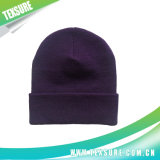 Purple Color Acrylic Unisex Plain Knitted Winter Hat (044)