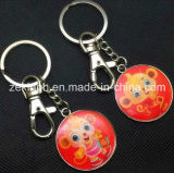 Custom Round Shape Printing Metal Keychain