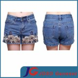 Fashion Women Embroidered Jeans Shorts (JC6072)