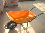 Yellow Strong Barrow Cart with Pneumatic Sack Barrows Wb6401