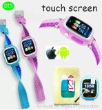Touch Screen Kids GPS Watch Tracker with GPS+Lbs+WiFi (D15)
