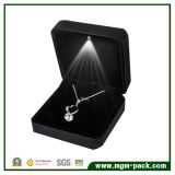 Black Metal LED Jewellery Box for Pendant
