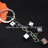 Multiple Solid Die Metal Key Rings