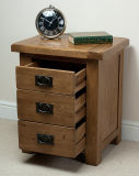 Rustic Solid Oak Nightstand (HSRU-002)