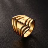 Fashion Stainless Steel Crossed Ring OEM Ring Gold Ring
