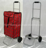 Light Weight 2 Wheel Shopping Trolley Cart Foldflat Bag