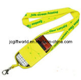 Reflective Polyester Lanyard with Silk Screen Printing (JC212L)
