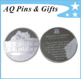 Sterling Silver Coin Witn 3D Logo