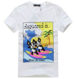 Custom Unisex Round Neck Cartoon Printing T-Shirt