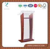 Wood Podium with Acrylic Panel & Surface