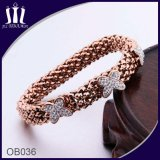 Elastic Rope Stretch Rose Butterfly Bracelet for Girl