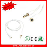 Aux 3.5mm Male to Female Advanced Audio Cable -White