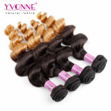 High Quality Ombre Color Remy Hair Weaves Peruvian Human Hair