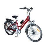 "26"" Alloy City E-Bike with Shimano 7-Speed (TDE-038B)"