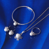 2016 Popular Christmas Gift Cute Pearl Baby Jewelry Set (61381)