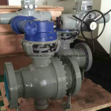 Split-Body Carbon Steel Industrial Trunnion Ball Valve