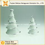 Electroplating White Ceramic Christmas Tree Decoration