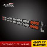 "43"" 480W Double Rows White & Amber LED Light Bar"