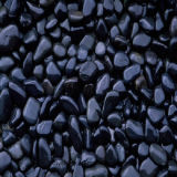 Black Polished River Pebble Decoration