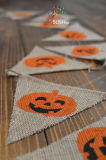 Halloween Higher Quality Triangle Jute String Flags