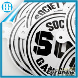 Black and White Two Colors Custom Text Logo Round Sticker
