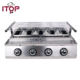 Commercial Stainless Steel Gas BBQ Grill Machine (GBBQ-214)