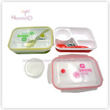 4 Compartment Food Container Plastic Lunch Box with Utensils (950ml)