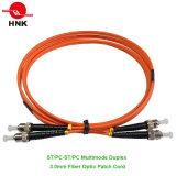 3.0mm ST/PC-ST/PC Duplex Multimode 62.5 Om1 Fiber Optic Patch Cord