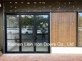 Metal Glass Bifold Door Modern Steel French Doors for Exterior