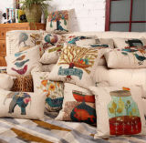 Retro Flower Digital Printed Cushion Fashion Decorative Cushion (JSC-001)