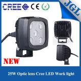 25W Square White Spot Beam LED Work Light for Truck/UTV/ATV/Tractor/Forklift