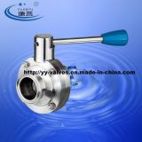 Sanitary Tri-Clamp Butterfly Valve with Ss Multi-Position Handle (100118)