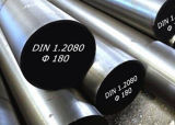DIN1.2080 Tool Steel Round Bar, Flat