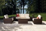 6-PC Rattan Sofa Set for Outdoor with Waterproof Cushion Wf050015