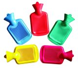 0.5L British Standard Colouful Rubber Hot Water Bottle