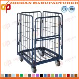 Galvanized Steel Stackable Warehouse Storage Cage Metal Roll Container (Zhra37)