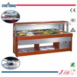 Wall-Side Opening Salad Bar with Wooden