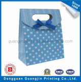 Custom Triangle Shape Paper Decorative Gift Bag with Ribbon
