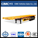Cimc 40ft 3 Axles Flatbed Semi Trailer