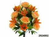 Artificial/Plastic/Silk Flower Rose/Lily Mixed Bush (2924002)