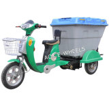 500W~700W Cleaning Tricycle with Basket and Rear Storage Box